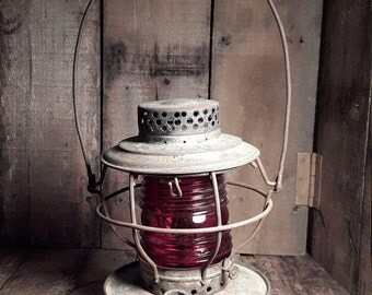 Antique  HANDLAN ST. Louis U.S.A. Railroad  Lantern All Original