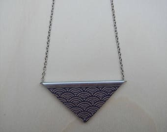 Necklace, wooden pendant, Japan, Fotopotch, triangle