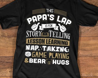 Papa T-shirt - Funny Papa Shirt for Any Awesome Grandpa - Father's Day Gift for Best Papa - Grandfather Birthday Gift - Up to 3XL