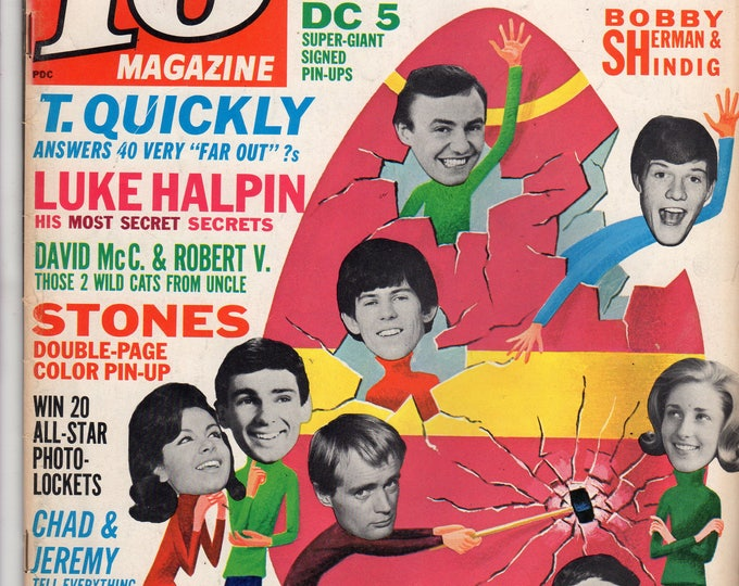 16 Magazine Beatles Luke Halpin Bobby Sherman May 1964 Issue Teen Idol Hearthrob