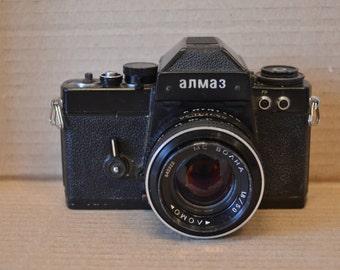 Almaz 103 Lomo Camera lens MC VOLNA 1-8-50 USSR