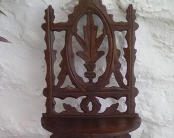 Sweet little vintage hand carved shelf