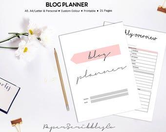 PRINTABLE Blogging Planner | Blog Planner | Blog Post Planner | Blog Binder | Blog Printable Inserts | Blog Planning | Social Media Planner