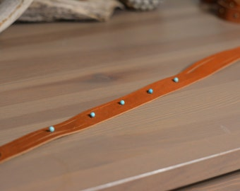 Leather Wrap Bracelet with Beads
