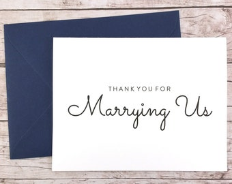 Thank You For Marrying Us Card, Thank You For Being Our Officiant Card, Wedding Card- (FPS0016)