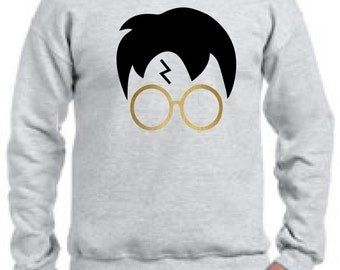 Harry Potter Glasses and Head  Sweaters,Harry Potter Sweaters, Harry Potter Lightning