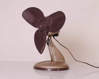 vintage /ventilateur middle century 1950 industrial loft table fan