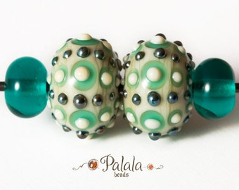 Pair of Lampwork Glass Beads for earrings