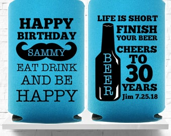 30th Birthday, Party Can Coolers, Dirty Thirty, Promotional Items, Birthday Party Favors, Gifts For Him, Coolies, Dirty 30, Cheers Beers