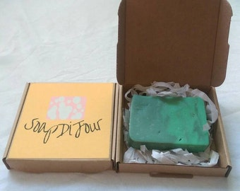 Tea tree and peppermint cold process soap 100g