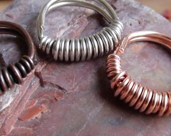 Light Coiled Copper Rings