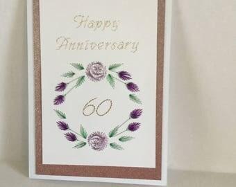 Flower Circle Happy Anniversary 60th