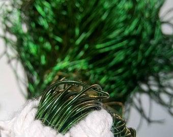 FERN GREEN Metallic French Wire, Bullion Wire, Gimp Wire 50/100/200/400 Grams