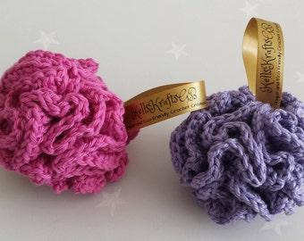 Bath Pouf pattern for crochet, practical crochet pattern, beginners crochet pattern, easy crochet pattern