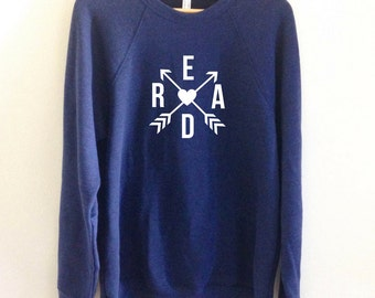 Read Crossed Arrows Sweatshirt | Book Bookworm Reading Author Writer Writing Sweater Gift | FREE SHIPPING | Women's Fashion Popular Graphic
