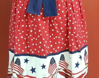 Red, white and blue Apron