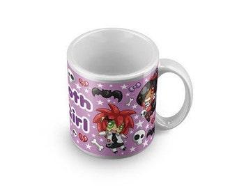 Goth girl mug - Coffee Horror Mug Funny emo Mug Goth Gag Gift  Mugs With Sayings visual kei