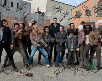 The Walking Dead cast pre signed photo print poster - 12x8 inches (30cm x 20cm) - N.0 2