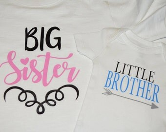 Big Sister, Little Brother, Big Brother, Little Sister Shirt or Onesie