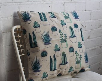 Succulent Design Pillow Case