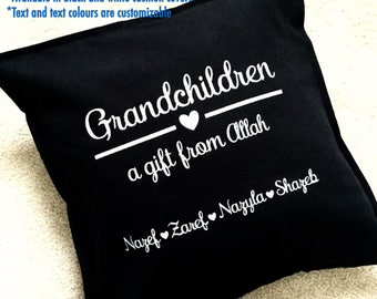 Personalized cushion cover, custom, name, pillowcase, decorative pillow cushion, home decor, decoration, bedroom, couple, grandparents