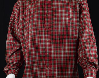 Mens Shirt Clothing Pendleton Plaid Classic Button down Casual Dress Up Mens Shirt - Size XL