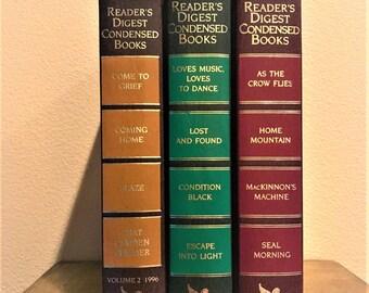 Three Vintage Readers Digest Condensed Books