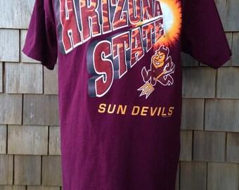 Vintage 90s ARIZONA STATE University Sun Devils T Shirt - Large