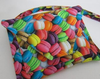 Large Crossbody Purse featuring Macaroons