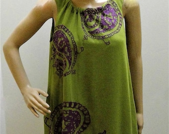 Twelve Twelve Los Angeles BOHO Embrodered Lined Chifon Above the Knee Tent Dress - Size Small