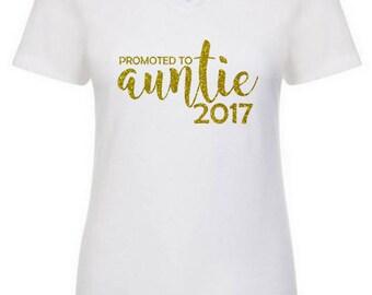 Aunt V Neck Shirt, Pregnancy Announcement Tank, Aunt Gift, Best Aunt, Mom Tank, Mom Shirt, Aunt Tank