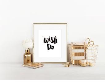 Wish and Do Digital Print, Cubicle Decor, Dream Catcher, Cute Cubicle Decor, Cubicle Wall Decor, Cubicle Accessory, Office Decor