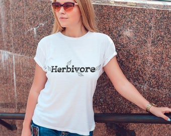 Herbivore Shirt Animal Rights Women's Shirt - Vegetarian Plan Eater Shirt Animal Rights Herbivore Shirt - Vegan Herbivore Women's Tee