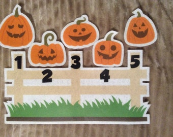 Felt stories 5  jack o lanterns//flannel stories pumpkins//story Halloween//felt story numbers//felt stories counting//flannel stories math
