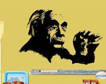 Wall Decal Vinyl sticker Mural Einstein Physics Physicist Science Laptop Decal