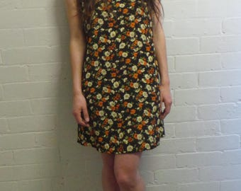 70's Autumn Mini Dress