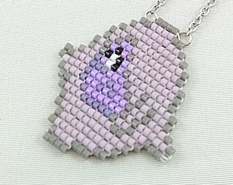 Amethyst Necklace - Steven Universe Necklace Crystal Gems Necklace Amethyst Head Necklace Cartoon Necklace 8bit Jewelry Geeky Necklace