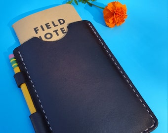Leather Field Notes Cover with Pencil/Pen Compartment