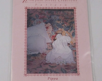 """Christening Gown Sewing Pattern for 11"""" Bunny, Wimpole Street Creations, 1990, Clothes for Toy"""