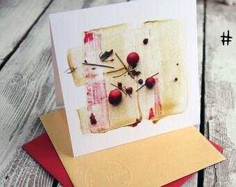 Festive CRANBERRY cards