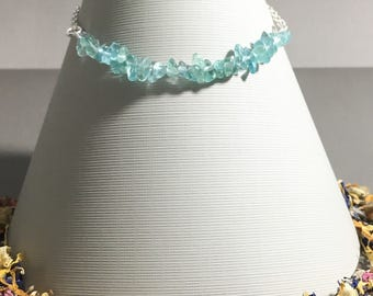 Apatite Weight Loss Bracelet Jewelry Gift - Energy Bracelet, Weight Loss, Throat Chakra, Blue Bracelet, Best Friend Gift, Blue Bracelet