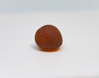 Collectors Sea Glass, Well Rounded Brown 'marble' of Genuine Seaham Sea Glas