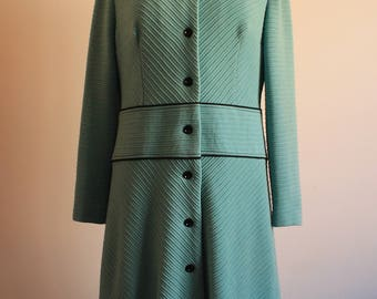 1960s Coat - Vintage Mint Green coat - HippieCoat - 1960s Vintage - Retro Style- Retrocoat -