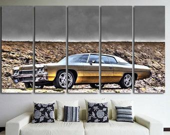 XLarge Сhevrolet Impala Wall Art Multi Panels Set Retro Car Wall Art Cars Canvas Art Muscle Cars Wall Art Car Print Poster Impala Wall Decor