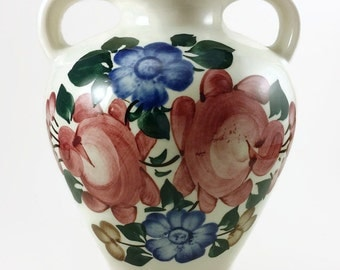 Vintage Polish Hand Painted Vase made by ZF Kolo