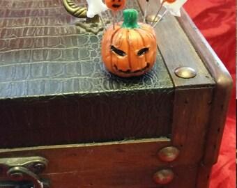 Pumpkin Treat/Polymer clay pumpkin