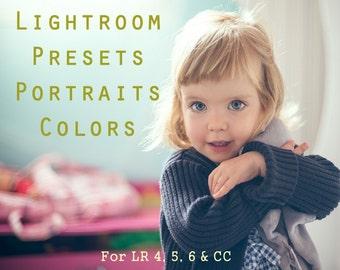 Pack of 20 Lightroom Presets Portraits Light Color