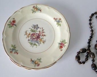 Set of Two, Edwin M Knowles, Vintage, Desert, Dish, Vintage Plates