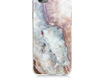 iPhone - Samsung Galaxy - TPU Soft Rubber Cell Phone Case - Marble - High quality Soft Silicon -Designed and Printed in USA