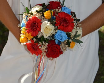 Wedding Bouquet Lisbon preserved flowers, bridal bouquet, keep Your Bride Bouquet,preserved natural flowers